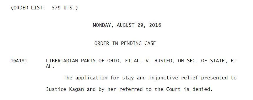 supreme-court-gary-johnson-ohio-ballot-libertarian-order